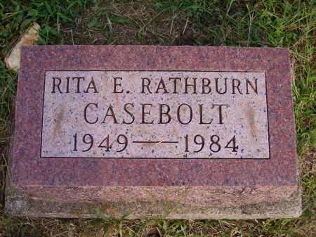 RATHBURN CASEBOLT, RITA E. - Meigs County, Ohio   RITA E. RATHBURN CASEBOLT - Ohio Gravestone Photos