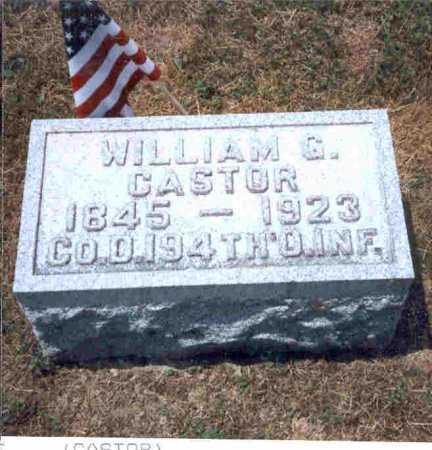 CASTER, WILLIAM G. - Meigs County, Ohio   WILLIAM G. CASTER - Ohio Gravestone Photos