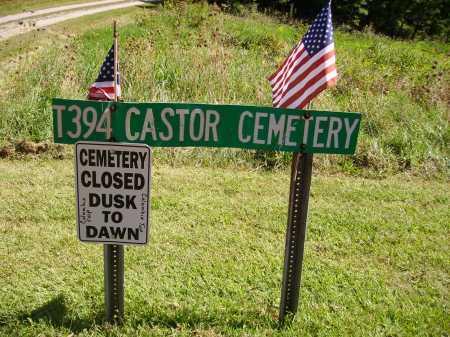 CASTOR CEMETERY, SIGN - Meigs County, Ohio | SIGN CASTOR CEMETERY - Ohio Gravestone Photos