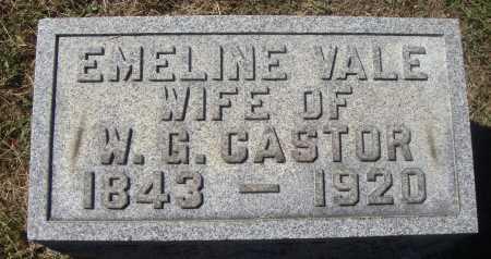 VALE CASTOR, EMELINE - Meigs County, Ohio | EMELINE VALE CASTOR - Ohio Gravestone Photos