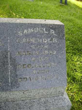 CAVENDER, SAMUEL R. - Meigs County, Ohio | SAMUEL R. CAVENDER - Ohio Gravestone Photos
