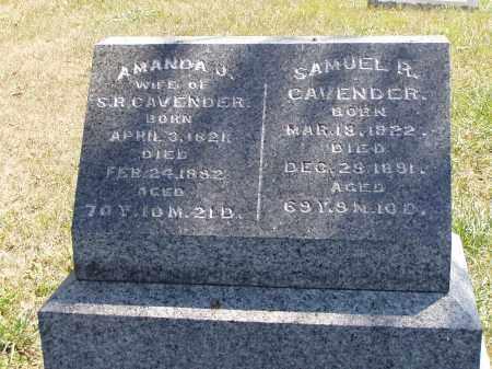 CAVENDER, AMANDA J. - Meigs County, Ohio | AMANDA J. CAVENDER - Ohio Gravestone Photos