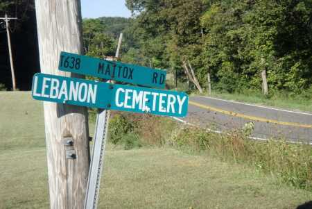 LEBANON CEMETERY SIGN, VIEW - Meigs County, Ohio | VIEW LEBANON CEMETERY SIGN - Ohio Gravestone Photos