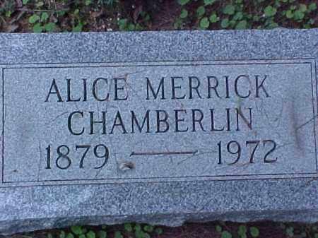 CHAMBERLIN, ALICE - Meigs County, Ohio   ALICE CHAMBERLIN - Ohio Gravestone Photos