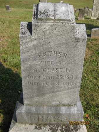 CHASE, ESTHER - Meigs County, Ohio | ESTHER CHASE - Ohio Gravestone Photos