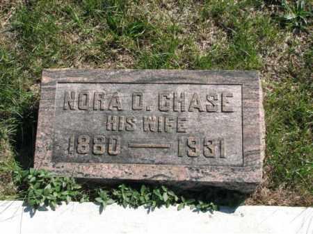 CHASE, NORA O. - Meigs County, Ohio   NORA O. CHASE - Ohio Gravestone Photos