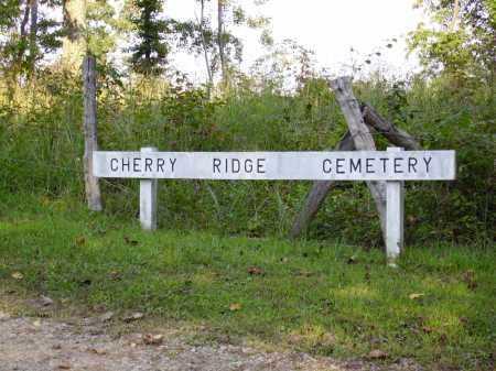 CHERRY RIDGE CEMETERY, SIGN - Meigs County, Ohio | SIGN CHERRY RIDGE CEMETERY - Ohio Gravestone Photos