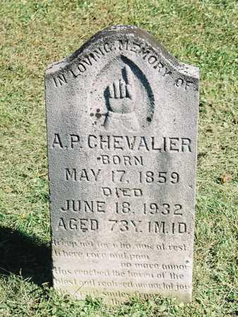 CHEVALIER, A. [ARTHUR] P. - Meigs County, Ohio   A. [ARTHUR] P. CHEVALIER - Ohio Gravestone Photos