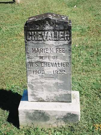 FEE CHEVALIER, MARIE M. FEE - Meigs County, Ohio   MARIE M. FEE FEE CHEVALIER - Ohio Gravestone Photos