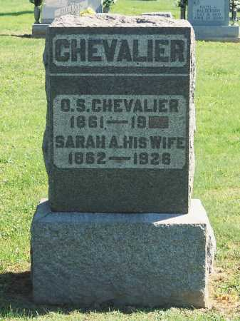CHEVALIER, SARAH A. - Meigs County, Ohio | SARAH A. CHEVALIER - Ohio Gravestone Photos