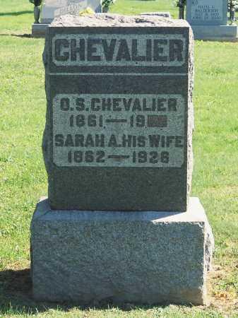 BARNHART CHEVALIER, SARAH A. - Meigs County, Ohio | SARAH A. BARNHART CHEVALIER - Ohio Gravestone Photos