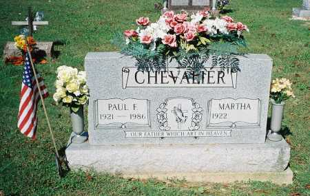 CHEVALIER, MARTHA - Meigs County, Ohio | MARTHA CHEVALIER - Ohio Gravestone Photos