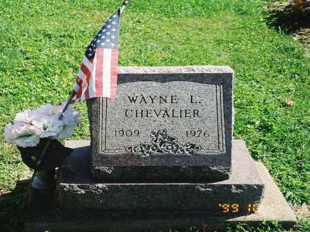 CHEVALIER, WAYNE L. - Meigs County, Ohio | WAYNE L. CHEVALIER - Ohio Gravestone Photos