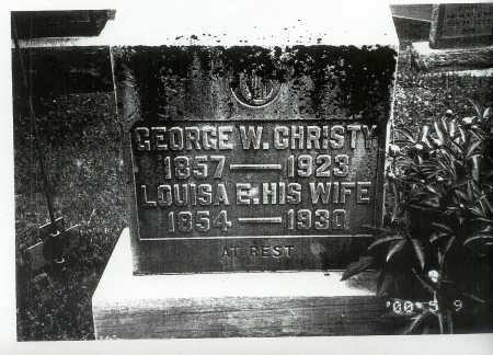 CHRISTY, LOUISA E. - Meigs County, Ohio | LOUISA E. CHRISTY - Ohio Gravestone Photos
