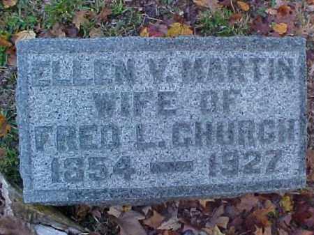 CHURCH, ELLEN VIRGINIA - Meigs County, Ohio | ELLEN VIRGINIA CHURCH - Ohio Gravestone Photos