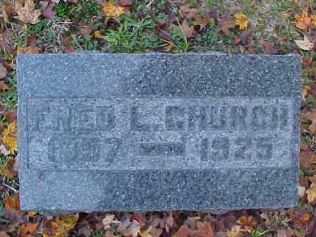 CHURCH, FREDERIC LUTHER - Meigs County, Ohio | FREDERIC LUTHER CHURCH - Ohio Gravestone Photos