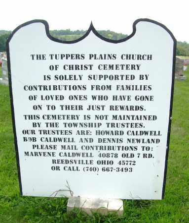 CHURCH OF CHRIST CEMETERY, SIGN - Meigs County, Ohio | SIGN CHURCH OF CHRIST CEMETERY - Ohio Gravestone Photos