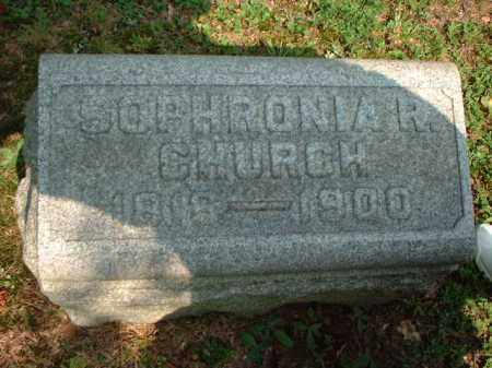 CHURCH, SOPHRONIA R. - Meigs County, Ohio | SOPHRONIA R. CHURCH - Ohio Gravestone Photos