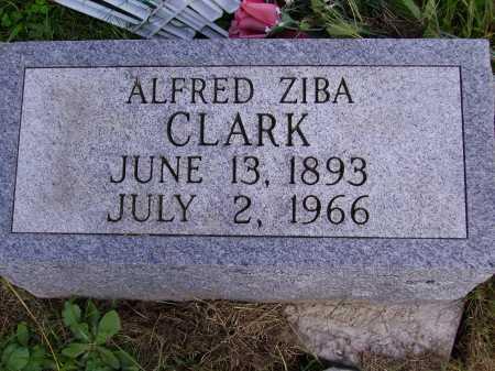 CLARK, ALFRED ZIBA - Meigs County, Ohio   ALFRED ZIBA CLARK - Ohio Gravestone Photos