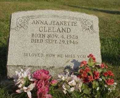 CLELAND, ANNA JEANETTE - Meigs County, Ohio | ANNA JEANETTE CLELAND - Ohio Gravestone Photos