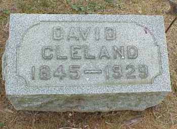 CLELAND, DAVID - Meigs County, Ohio   DAVID CLELAND - Ohio Gravestone Photos