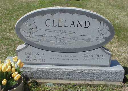 CLELAND, GERALDINE - Meigs County, Ohio | GERALDINE CLELAND - Ohio Gravestone Photos