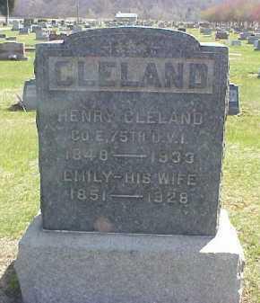 CLELAND, EMILY - Meigs County, Ohio | EMILY CLELAND - Ohio Gravestone Photos