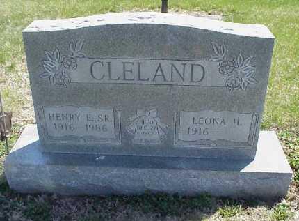 CLELAND, HENRY E. SR. - Meigs County, Ohio | HENRY E. SR. CLELAND - Ohio Gravestone Photos