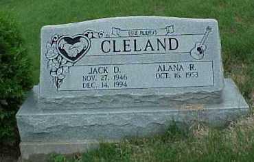 CLELAND, JACK DWAINE - Meigs County, Ohio | JACK DWAINE CLELAND - Ohio Gravestone Photos