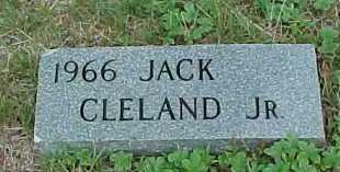 CLELAND, JACK JR. - Meigs County, Ohio | JACK JR. CLELAND - Ohio Gravestone Photos