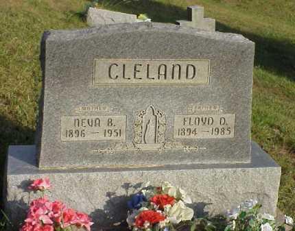 CLELAND, FLOYD D. - Meigs County, Ohio | FLOYD D. CLELAND - Ohio Gravestone Photos