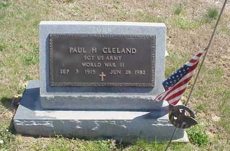 CLELAND, PAUL H. - Meigs County, Ohio   PAUL H. CLELAND - Ohio Gravestone Photos