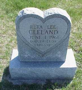 CLELAND, RETA LEE - Meigs County, Ohio | RETA LEE CLELAND - Ohio Gravestone Photos