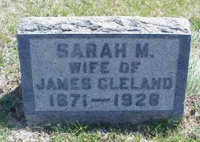 CLELAND, SARAH M. - Meigs County, Ohio | SARAH M. CLELAND - Ohio Gravestone Photos