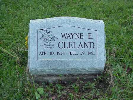 CLELAND, WAYNE E. - Meigs County, Ohio   WAYNE E. CLELAND - Ohio Gravestone Photos