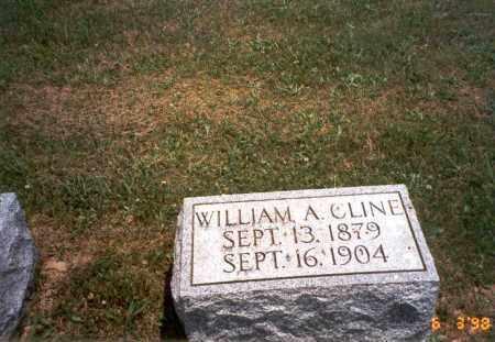 CLINE, WILLIAM A. - Meigs County, Ohio   WILLIAM A. CLINE - Ohio Gravestone Photos