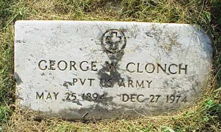 CLONCH, GEORGE W. - Meigs County, Ohio | GEORGE W. CLONCH - Ohio Gravestone Photos