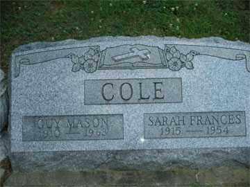 COLE, SARAH FRANCES - Meigs County, Ohio | SARAH FRANCES COLE - Ohio Gravestone Photos