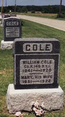 COLE, WILLIAM - Meigs County, Ohio | WILLIAM COLE - Ohio Gravestone Photos