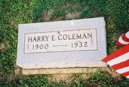 COLEMAN, HARRY - Meigs County, Ohio | HARRY COLEMAN - Ohio Gravestone Photos