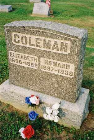 COLEMAN, ELIZABETH - Meigs County, Ohio   ELIZABETH COLEMAN - Ohio Gravestone Photos