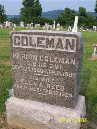 COLEMAN, ELLA - Meigs County, Ohio   ELLA COLEMAN - Ohio Gravestone Photos