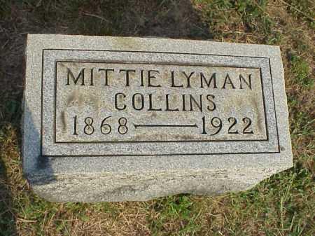 LYMAN COLLINS, MITTIE - Meigs County, Ohio | MITTIE LYMAN COLLINS - Ohio Gravestone Photos