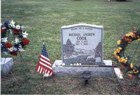 COOK, MICHAEL ANDREW - Meigs County, Ohio | MICHAEL ANDREW COOK - Ohio Gravestone Photos