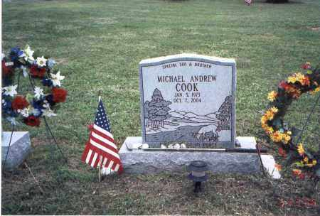 COOK, MICHAEL ANDREW - Meigs County, Ohio | MICHAEL ANDREW COOK - Ohio Gravestone Photos