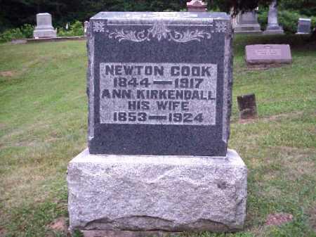 COOK, NEWTON - Meigs County, Ohio | NEWTON COOK - Ohio Gravestone Photos