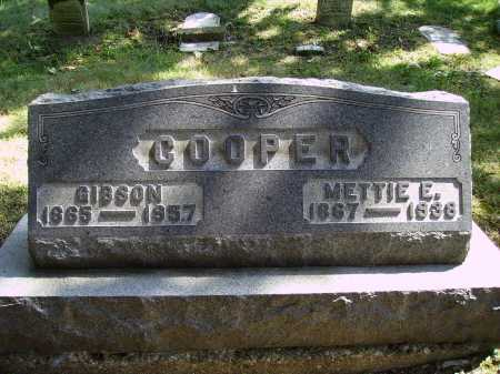 COOPER, METTIE E. - Meigs County, Ohio | METTIE E. COOPER - Ohio Gravestone Photos
