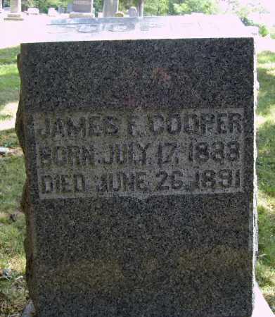 COOPER, JAMES F. - Meigs County, Ohio | JAMES F. COOPER - Ohio Gravestone Photos
