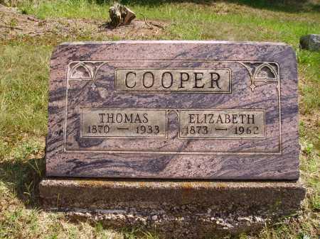 COOPER, ELIZABETH - Meigs County, Ohio | ELIZABETH COOPER - Ohio Gravestone Photos