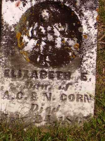 CORN, ELIZABETH E. - Meigs County, Ohio | ELIZABETH E. CORN - Ohio Gravestone Photos